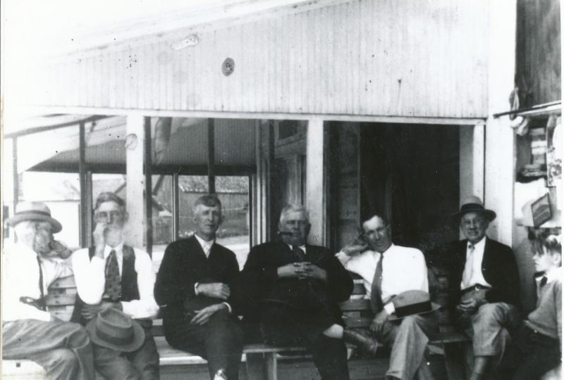 Dominick Gallagher, third from left, poses with other Beaver Islanders in the 1930s.