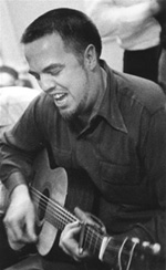 Alan Lomax with guitar